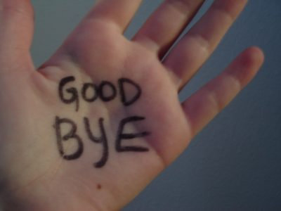 A very short (dull) history of Goodbye..