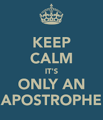 Let`s talk about Apostrophes….