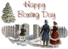 A very brief history of Boxing Day……