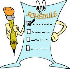 Where does schedule come from?…..