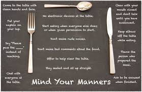 A very short history of 16th century manners…..