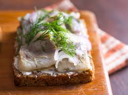 The pickled herring sandwich……